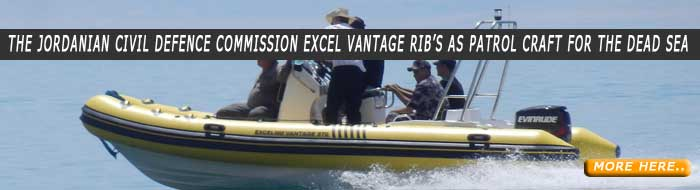 The Jordanian Civil Defence Commission Excel Vantage RiB's as Patrol Craft for the Dead Sea