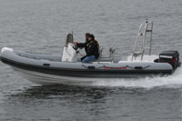 Excel Virage 650 on the water
